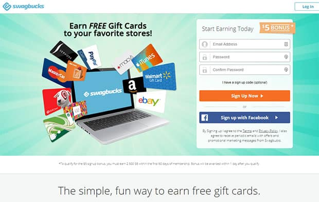 Swagbucks - thẻ quà tặng Walmart miễn phí