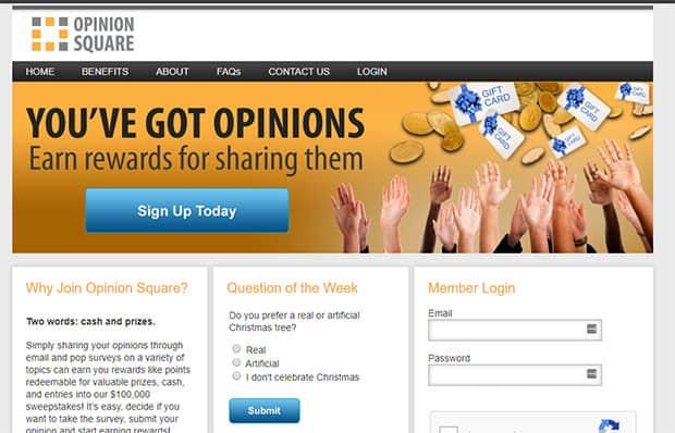 Opinion Square - thẻ quà tặng Walmart miễn phí