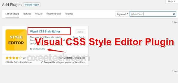 Plugin Visual CSS Style Editor cho Text quá nhỏ để đọc lỗi