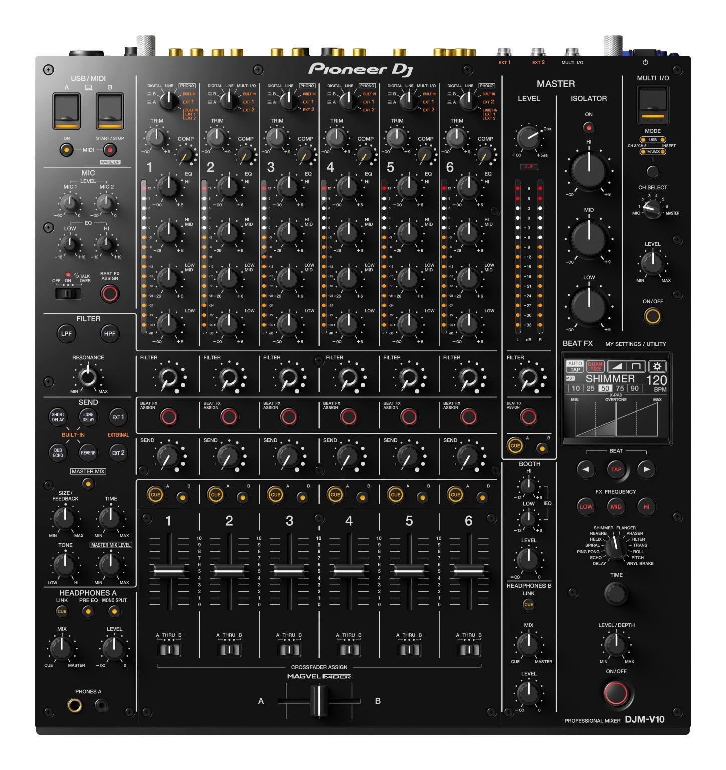 Tiên phong DJ ra mắt mới 6Bộ trộn kênh, DJM-V10
