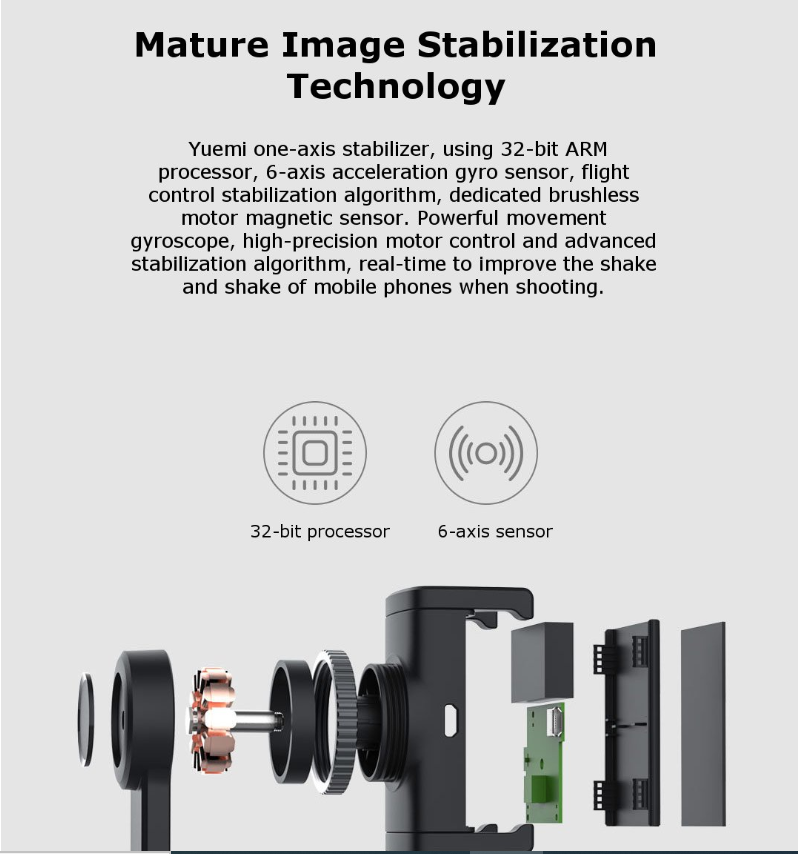 Phát hành bộ ổn định Gimbal một trục của Xiaomi Yuemi: Có sẵn với giá 39,99 USD 3