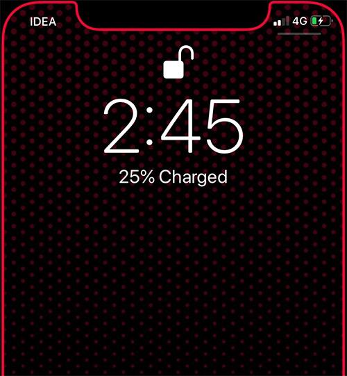 Đã sạc iPhone, phần trăm pin hiển thị trên màn hình khóa iPhone