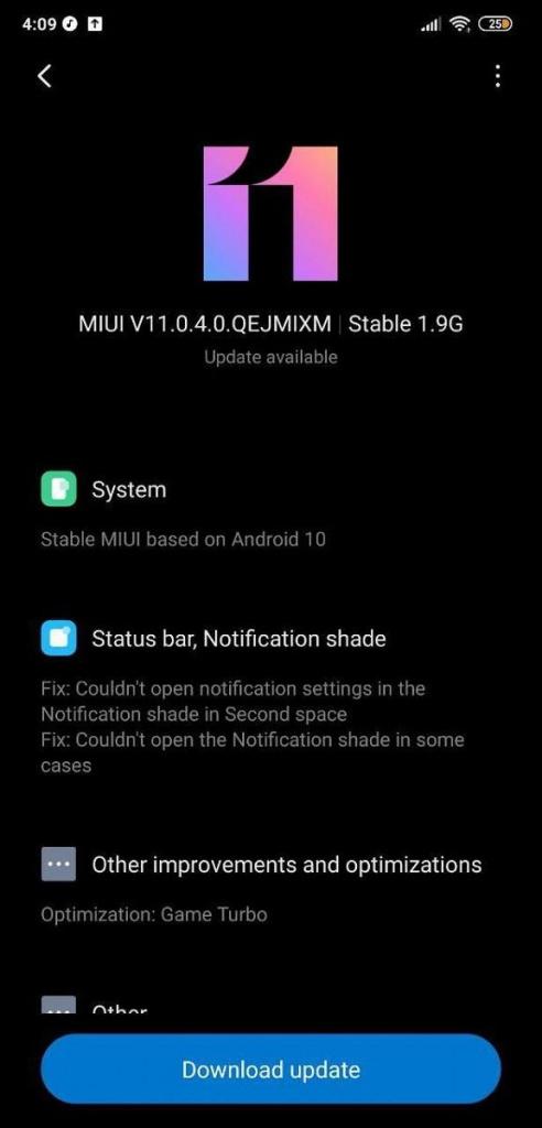 Điện thoại di động MIUI 11 Android 10 smartphones