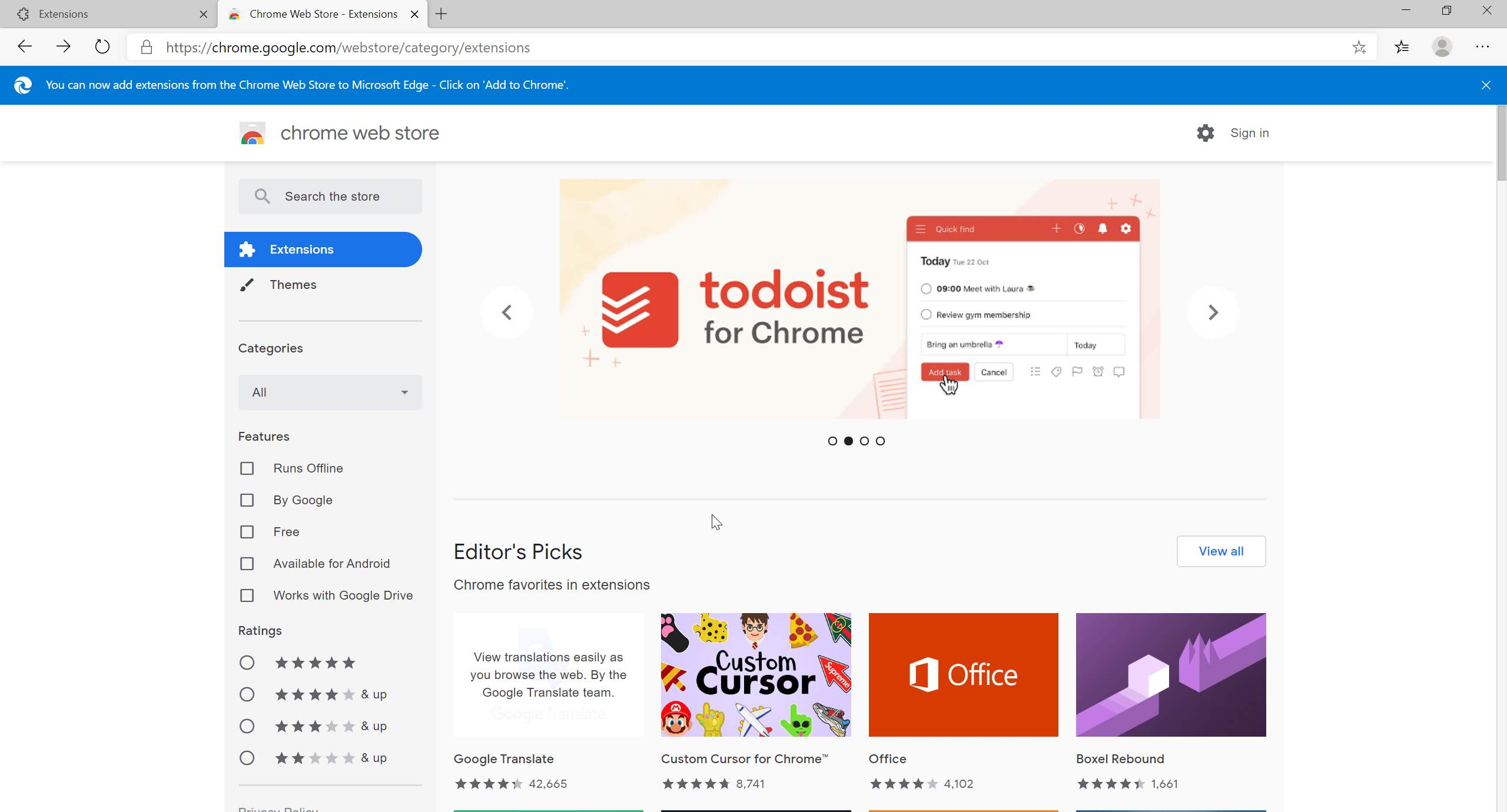 Cửa hàng Chrome trực tuyến