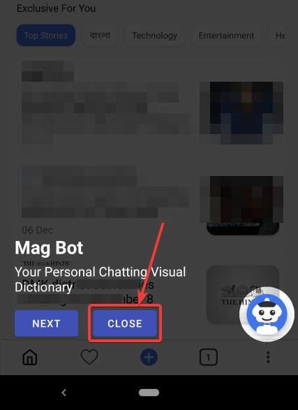 giao diện người dùng của ứng dụng MagTapp