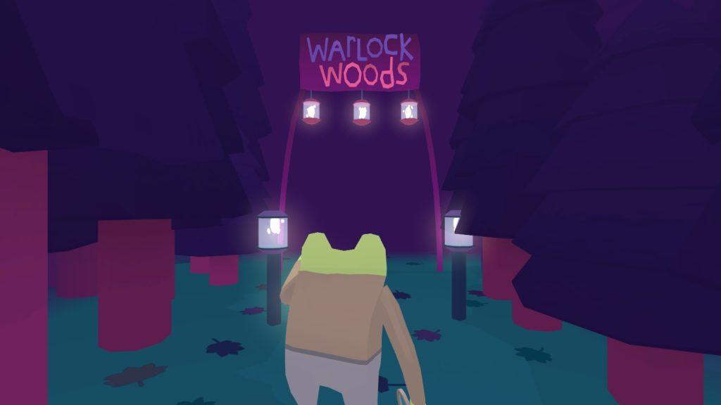 Thám tử ếch vào Warlock Woods.