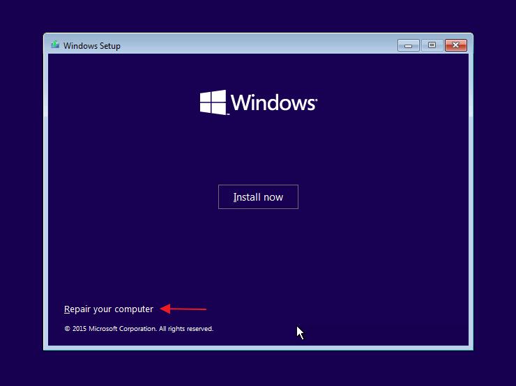 Vượt qua Windows Phục hồi lỗi Nesabamedia 2