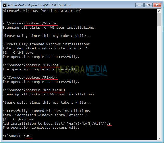 Vượt qua Windows Phục hồi lỗi Nesabamedia 6