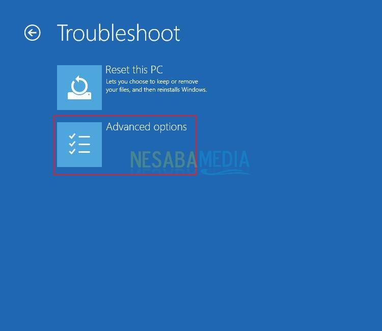 Vượt qua Windows Phục hồi lỗi Nesabamedia 4
