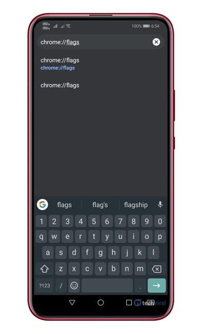 Nhập vào 'Chrome: // flags'