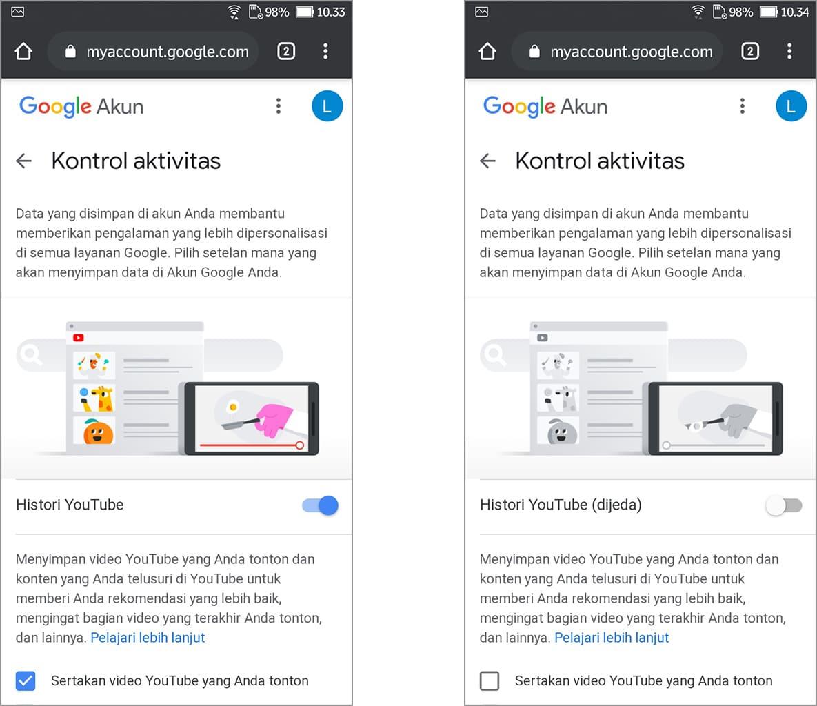 Cách vô hiệu hóa Lịch sử xem và tìm kiếm trên YouTube Android 6