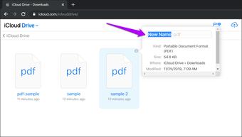 Đổi tên Icloud Drive Files Folders 10