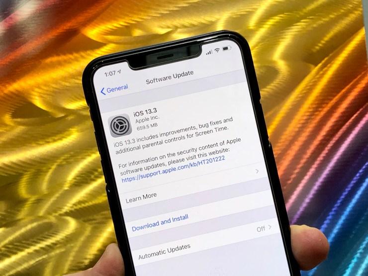 Cài đặt iOS 13.3 để bảo mật tốt hơn