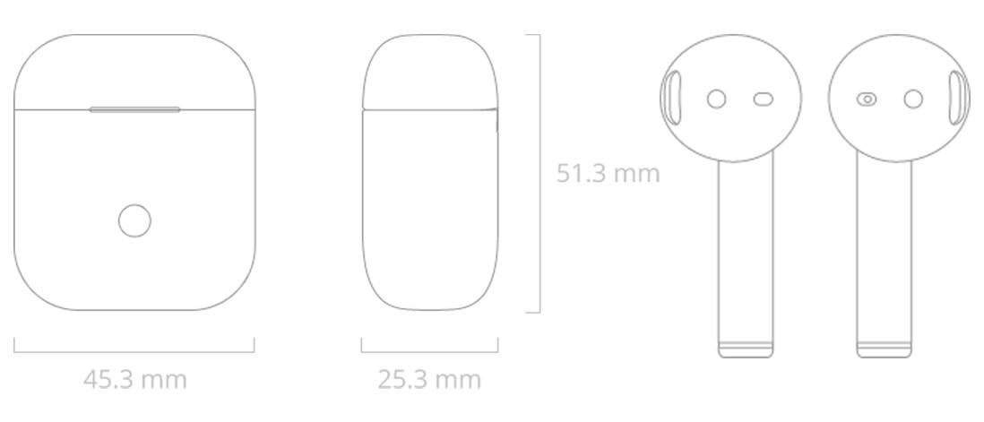Realme Buds Air kích thước