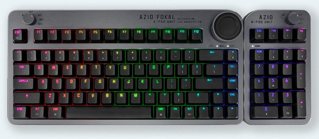 Bàn phím cao cấp AZIO Fokal với núm điều khiển có thể tùy chỉnh được ra mắt trên Indiegogo 2