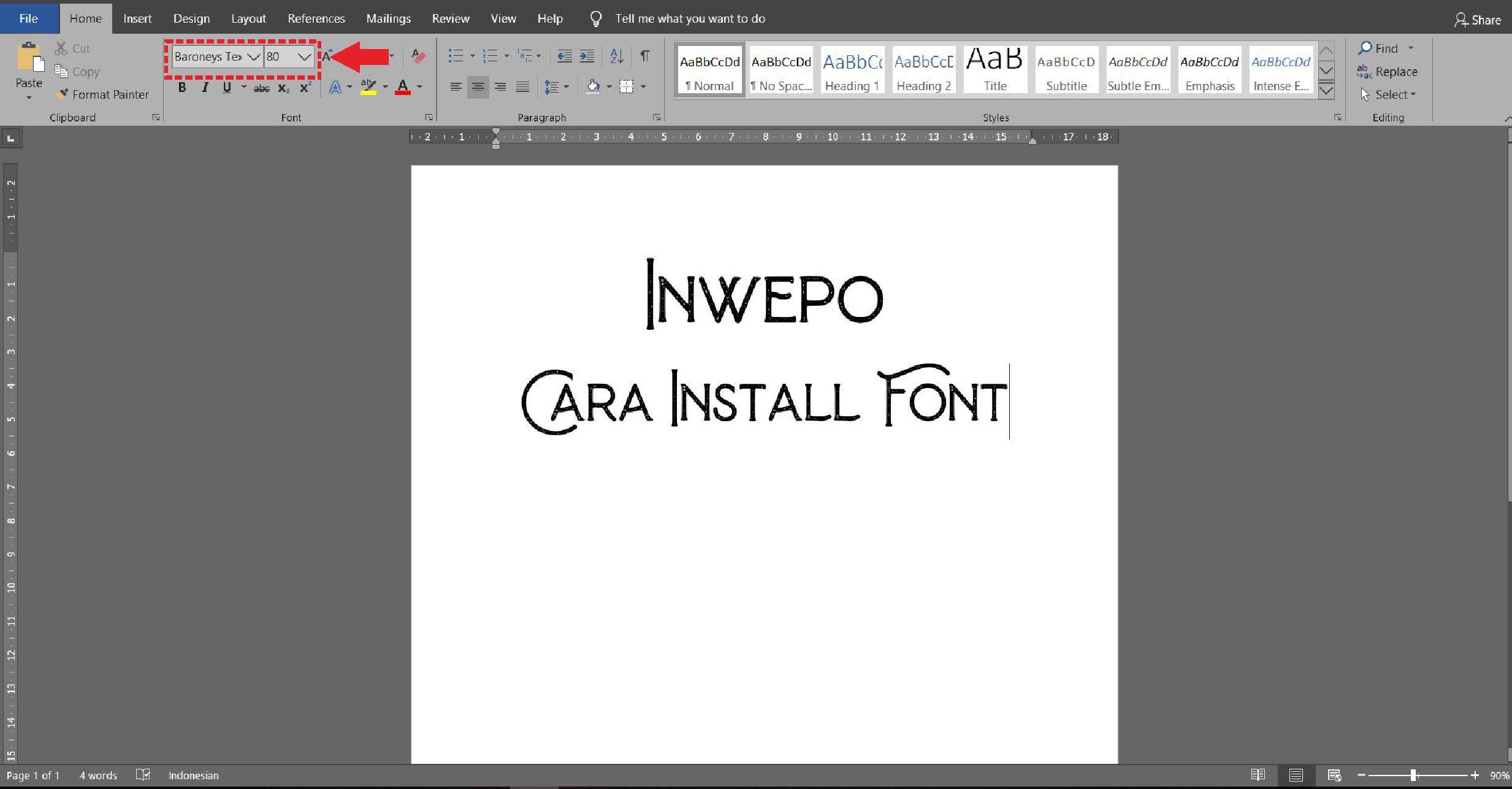 Cách cài đặt phông chữ mới trên máy tính xách tay / PC Windows 5