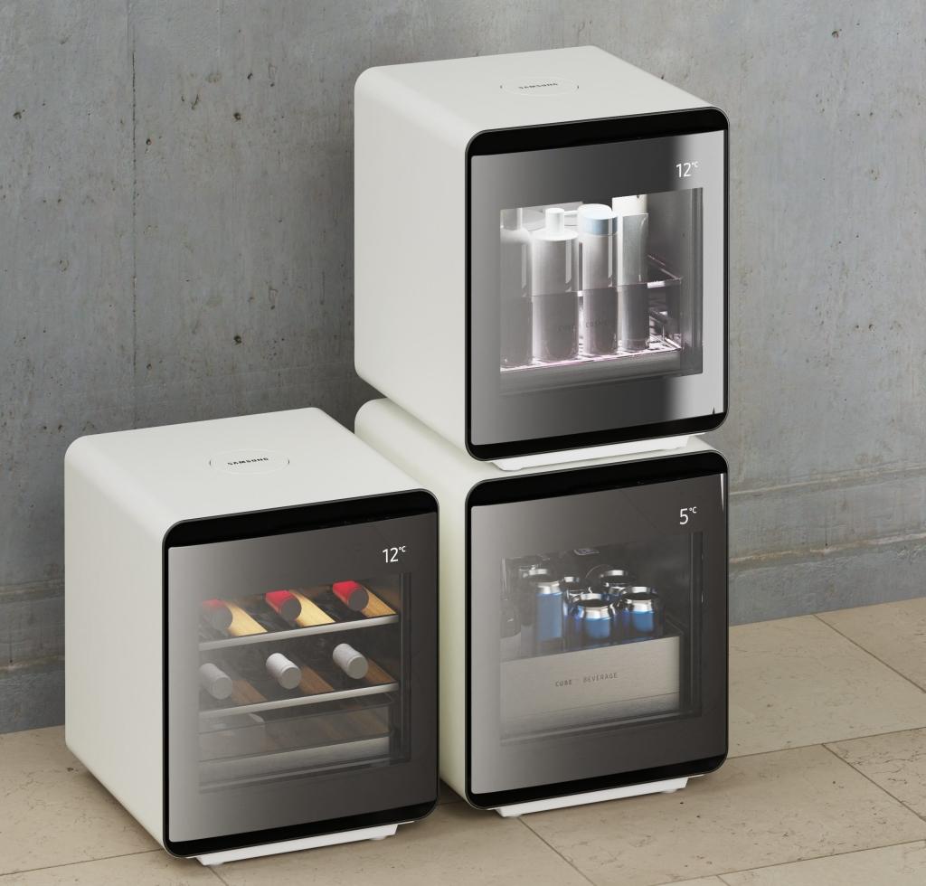 Ba mô hình của Tủ lạnh Samsung Cube (Sinh sản: Tiết lộ)