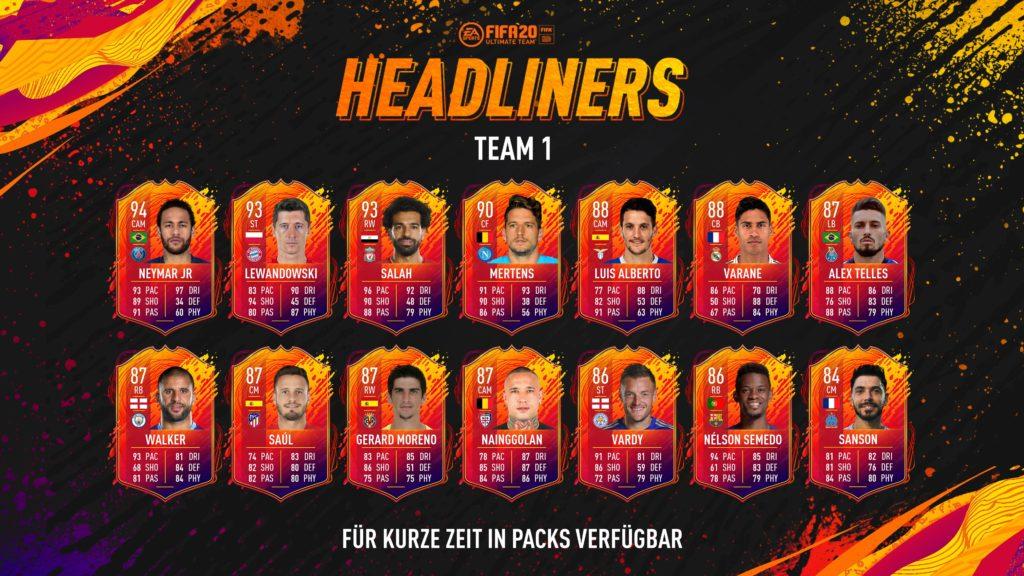 FIFA 20: HeadLiners - Đội ngũ nhân vật chính đã được công bố 2