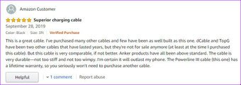 Cáp sạc Iphone tốt nhất cho xe Anker Powerline Iii Rev