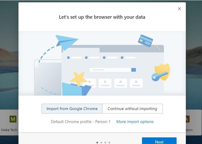 Thực hiện Microsoft Edge Nhập tiện ích mở rộng Chrome