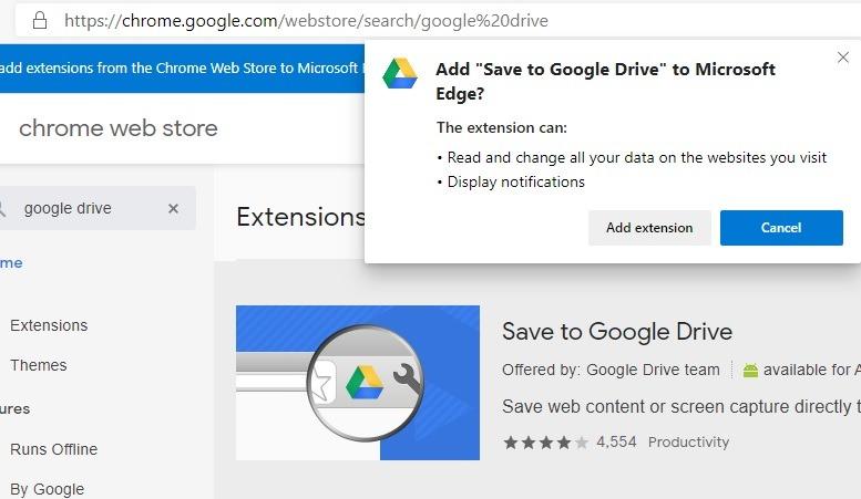 Thực hiện Microsoft Edge Thêm tiện ích mở rộng Chrome cho Microsoft Edge