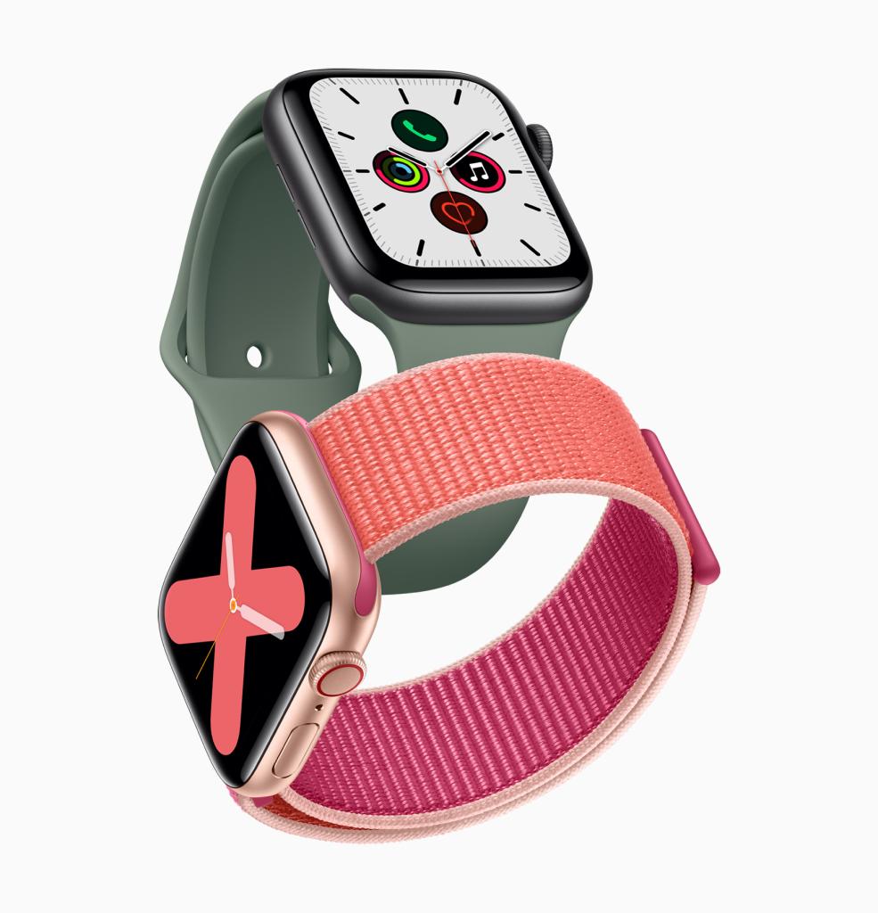 Apple Watch  Loạt 5 hiển thị mặt số Meridian mới và Chữ số đơn sắc