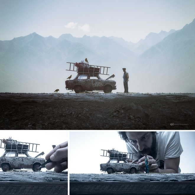 Nhiếp ảnh gia đáng kinh ngạc này tạo ra thế giới mới với nghệ thuật và thủ công 10