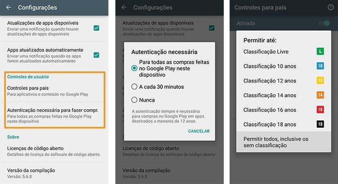 Kiểm soát của phụ huynh cũng yêu cầu phụ huynh xác thực mua hàng trên Google Play