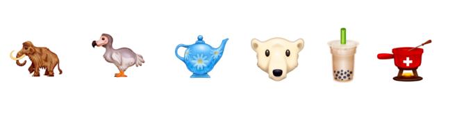 Biểu tượng cảm xúc mới của chúng tôi trong năm nay có thể bao gồm một 'nụ hôn của đầu bếp', fondue, trà bong bóng và dodo 3