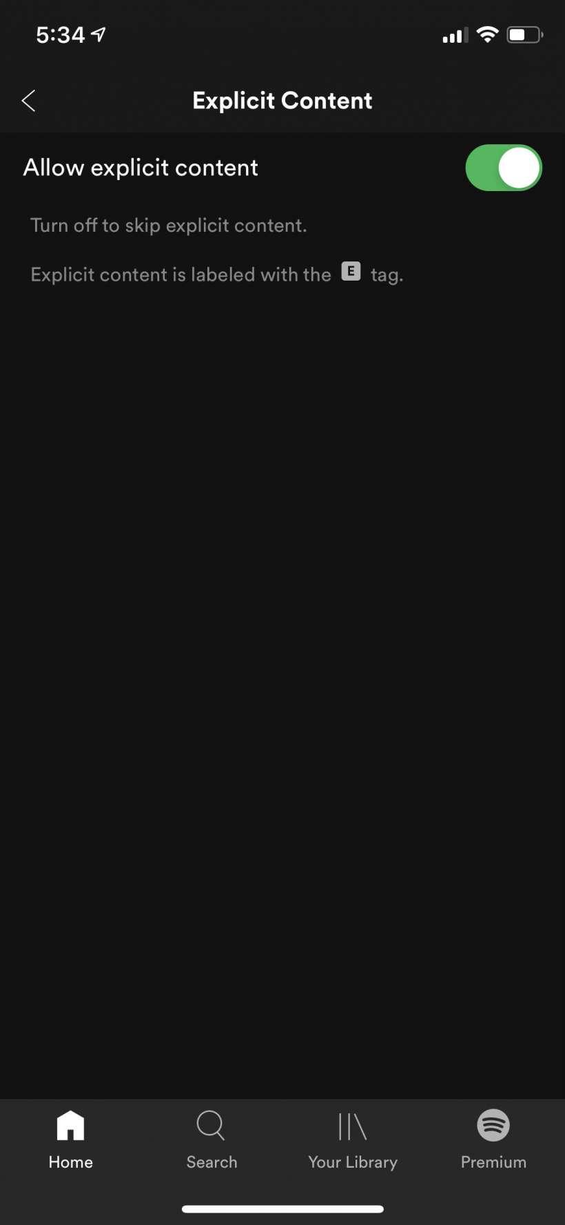 Cách chặn nhạc và lời bài hát rõ ràng trên Spotify trên iPhone và iPad.