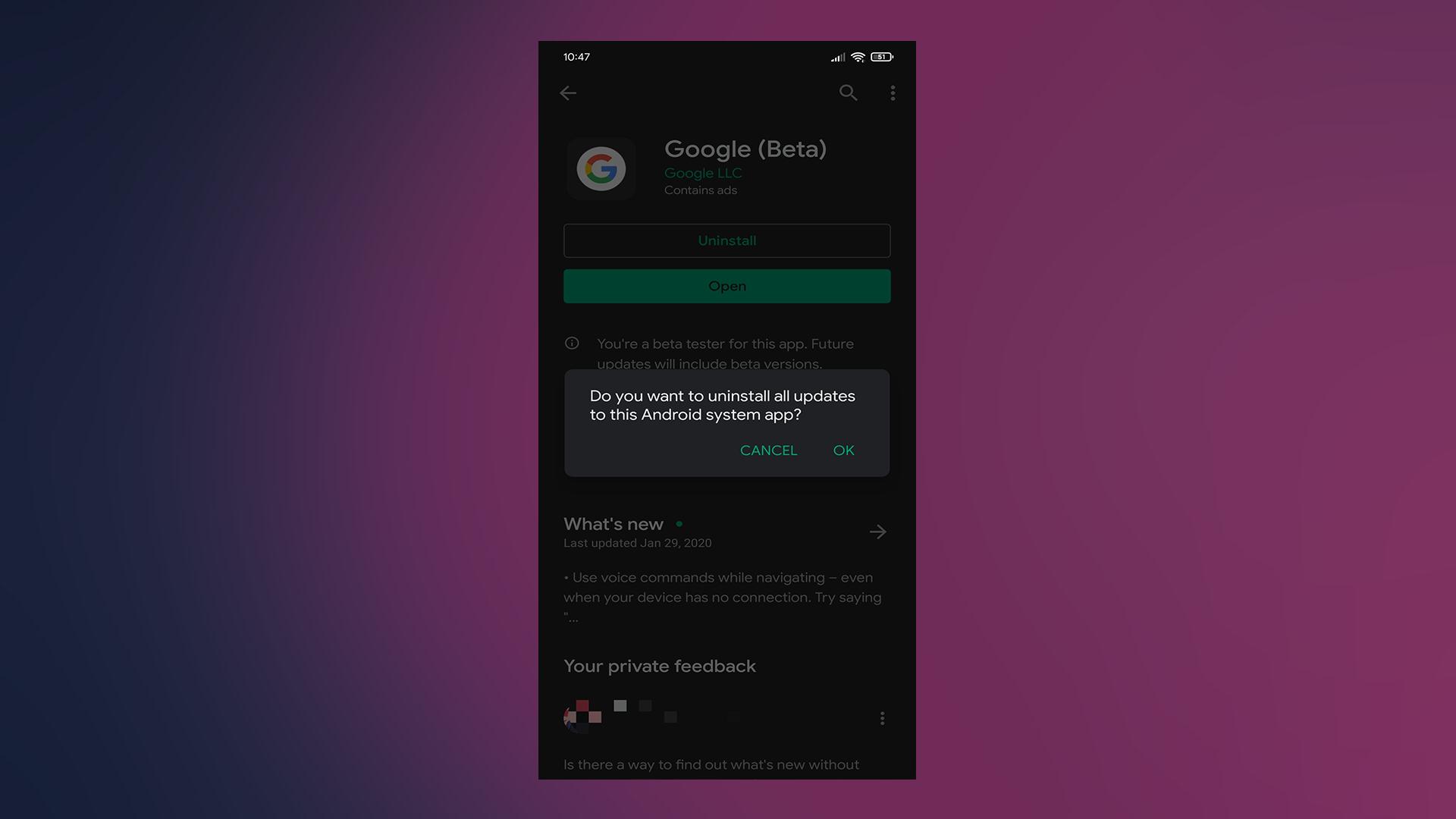 Khắc phục: Ứng dụng Google không hoạt động trên Android 2