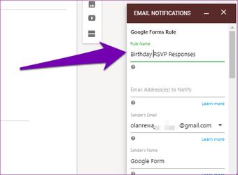 Nhận phản hồi của Google Forms trong Email 10