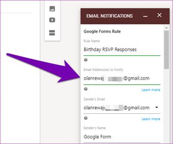Nhận phản hồi của Google Forms trong Email 11