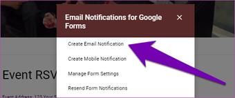 Nhận phản hồi của Google Forms trong Email 09
