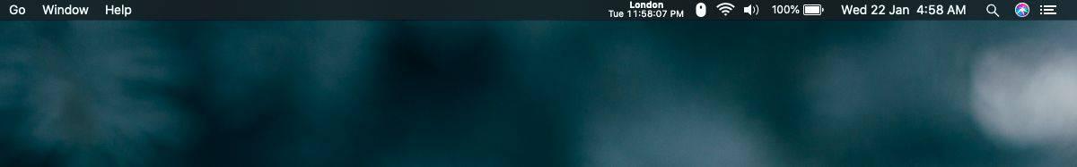 Cách nhận đồng hồ cho nhiều múi giờ trên thanh menu trên macOS 3