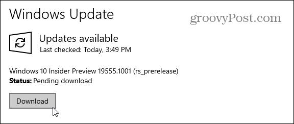 Phát hành Microsoft Windows 10 Bản xem trước Xây dựng 19555 2