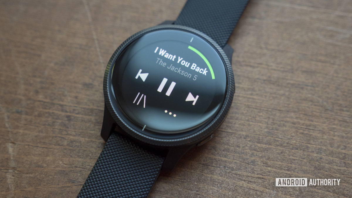 garmin venu xem xét Spotify ứng dụng âm nhạc