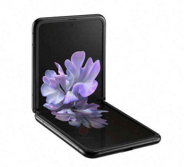 Samsung Galaxy Z Flip hiển thị ở một vị trí chính thức