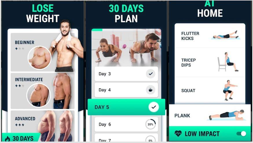 Giảm cân Ứng dụng tập thể dục tốt nhất dành cho nam giới cho ANdroid trên cửa hàng Google play - Giảm cân trong 30 ngày