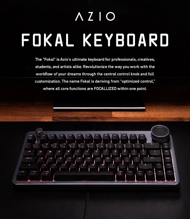 Bàn phím cao cấp AZIO Fokal với núm điều khiển có thể tùy chỉnh được ra mắt trên Indiegogo 1