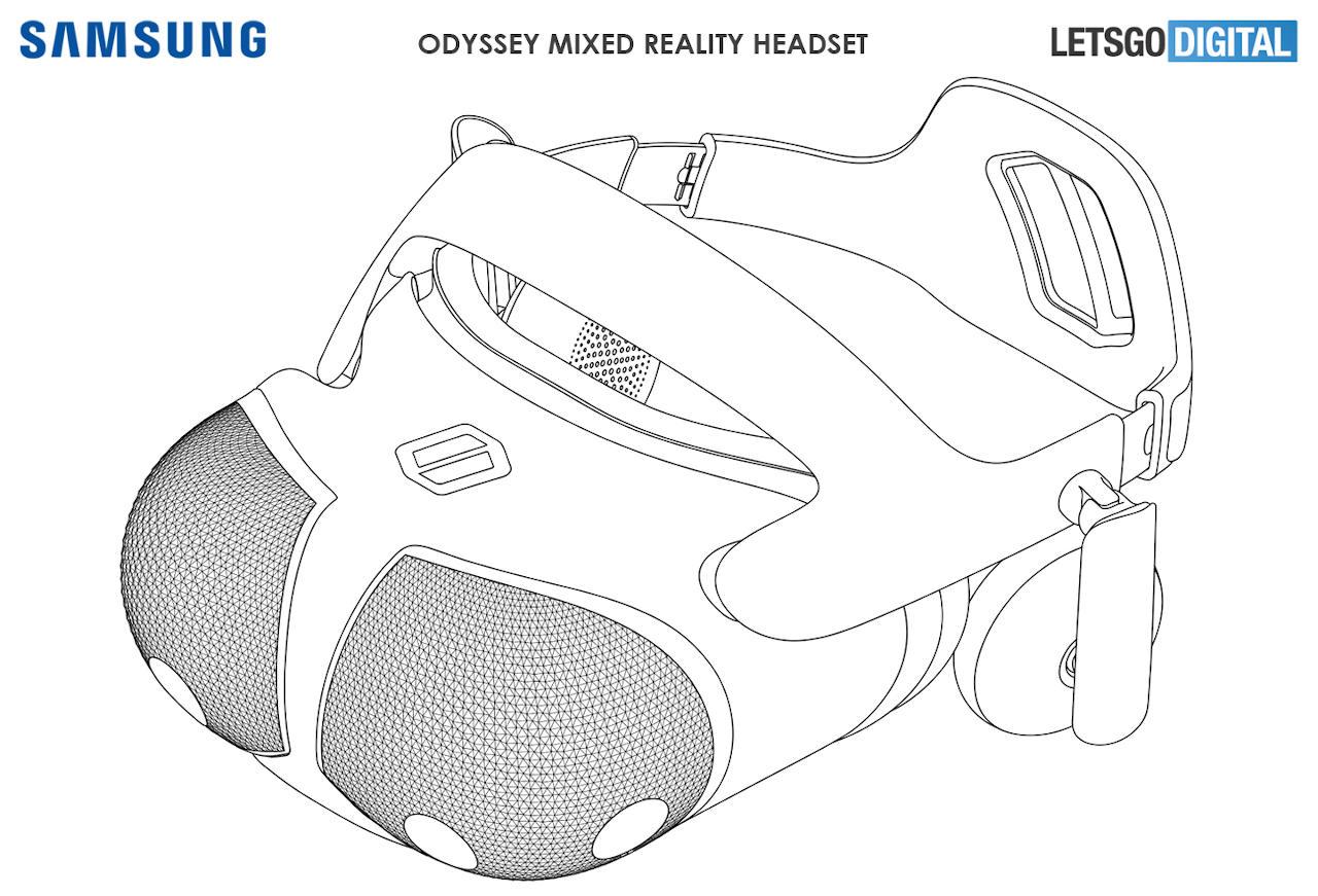 Bằng sáng chế tai nghe Samsung Odyssey VR nghe có vẻ mạnh mẽ hơn, trông xa lạ 2