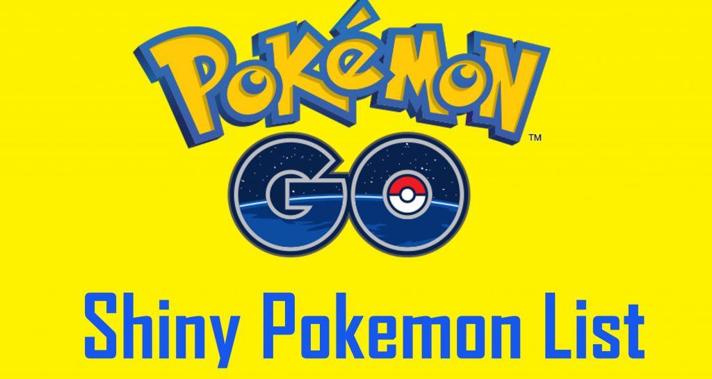 CẬP NHẬT Pokemon Danh sách tất cả sáng bóng Pokemon Phát hành quá xa 1