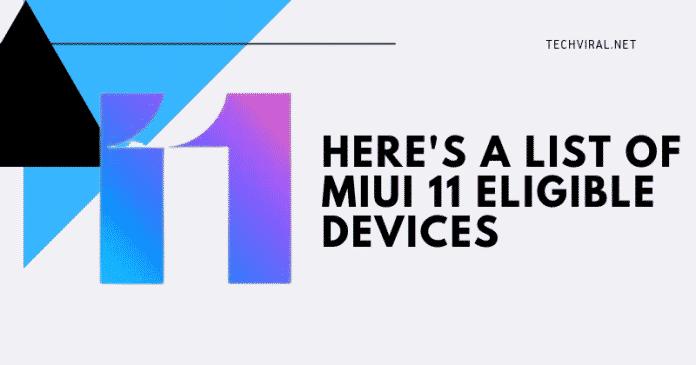 Các thiết bị Xiaomi này sẽ nhận được bản cập nhật MIUI 11 3