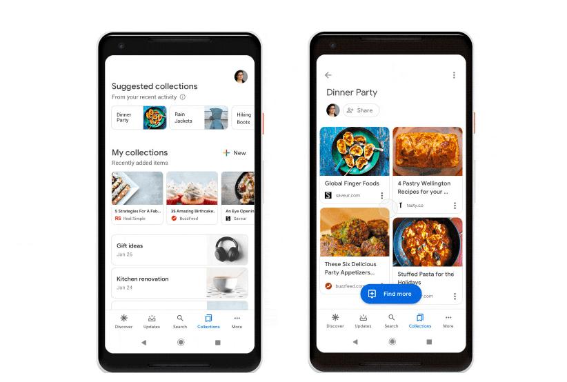 Các tính năng của Google Collection Collection hoạt động như một Pinterest 1