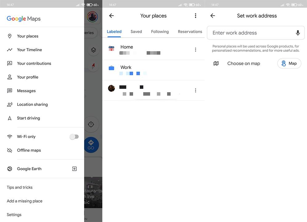 Cách đặt Trang chủ trên Google Maps cho Android 11