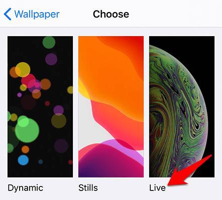 Đặt hình nền sống Iphone hình nền sống