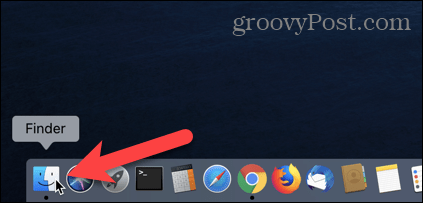 Mở Finder trên máy Mac của bạn