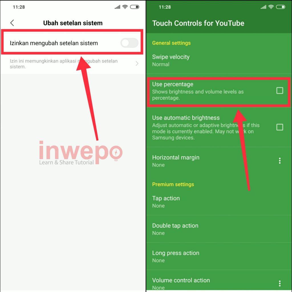 Cách điều chỉnh âm lượng và độ sáng trong YouTube với màn hình vuốt 3