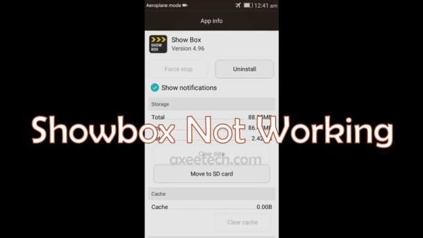 Showbox Không hoạt động Sửa lỗi