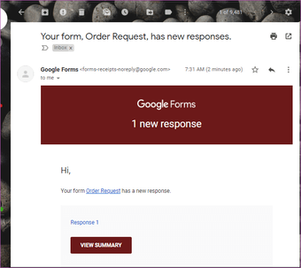 Cách nhận Google Forms Responses trong Email 01